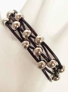 Black Leather 12 bead