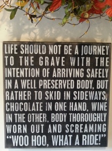 Life is not a journey sign